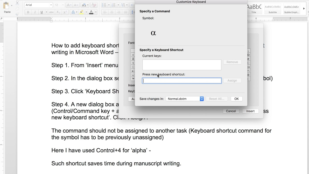 Easy Ways To Create Custom Shortcuts For Symbols In Microsoft Word